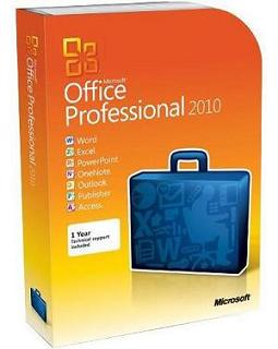 Microsoft Office Professional 2010 FPP (Full Packaged DVD Product) - 1 user for 2 PCs