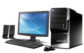 Acer  Aspire M5711 Desktop PC (4GB DDR2, GeForce GT120 1GB, Vista Basic)