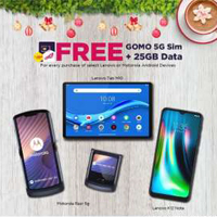 Lenovo FREE GOMO 5G Sim + 25GB Data