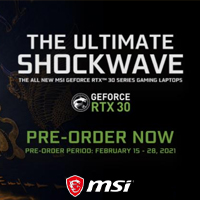 MSI: The Ultimate Shockwave GeForce RTX 30 Pre-Order