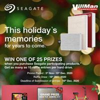 Seagate End User Holiday Raffle Promo