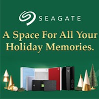 Seagate - A Space For All Your Holiday Memories. Promo Period: Oct 15 - Dec 15, 2021