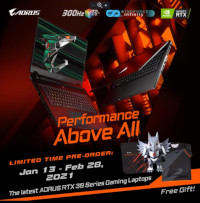 Pre-Order Aorus RTX 30 Series Laptops and get Free Items